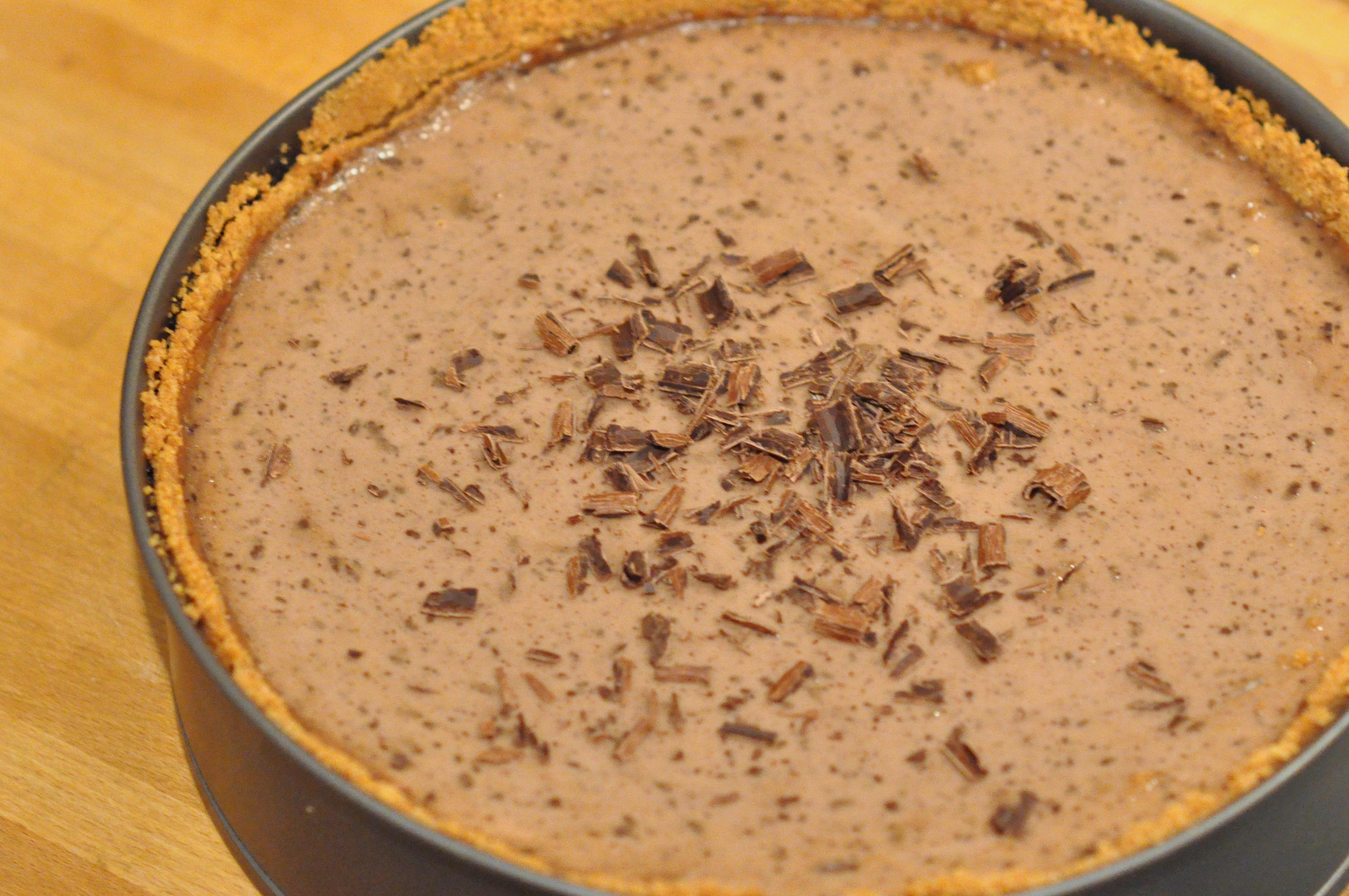 Cheesecake au chocolat et aux poires