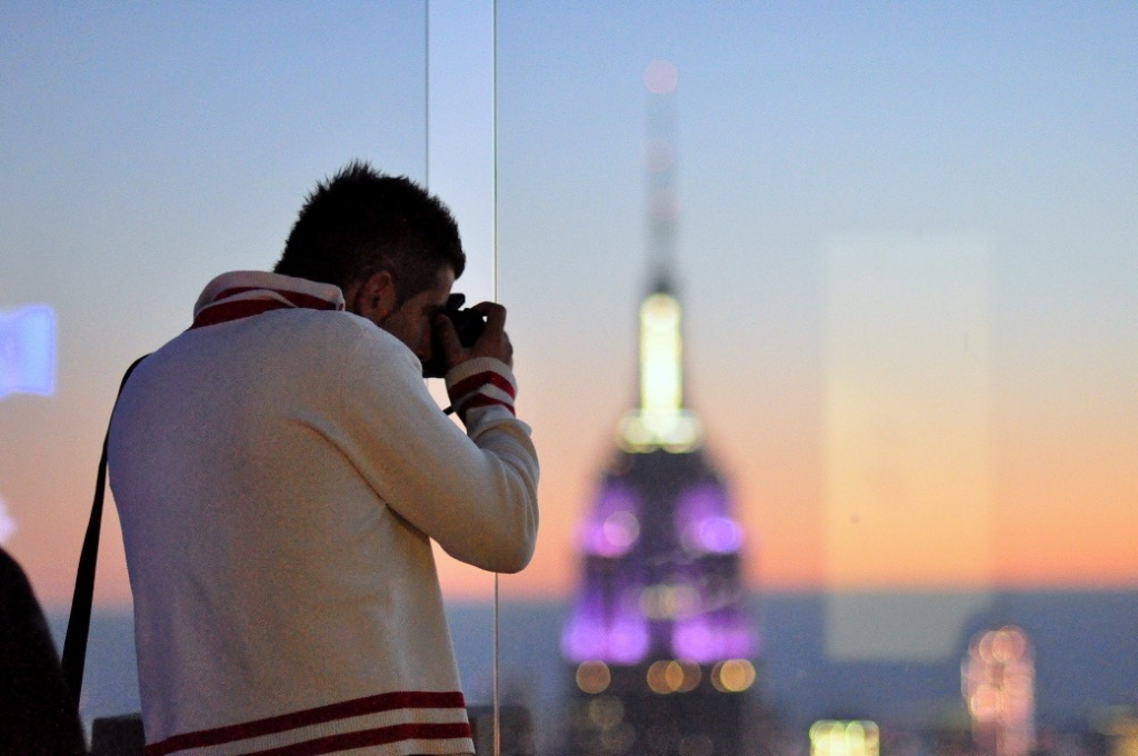 Photographe devant l'Empire State Building