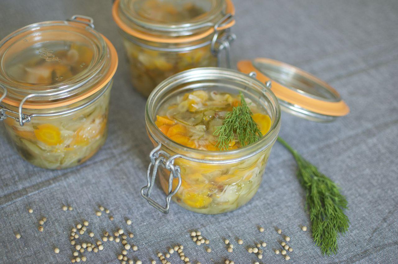 Pickles à l'aigre douce et à l'aneth