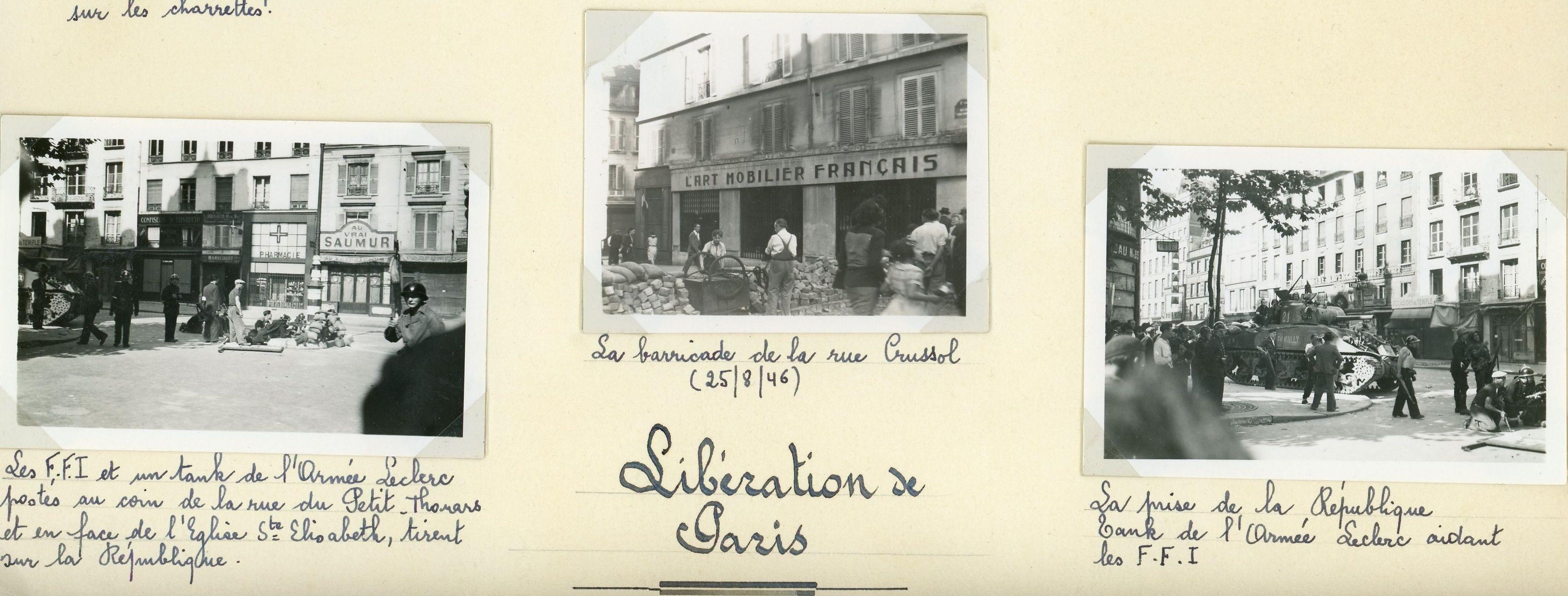 La libération de Paris vue par ma grand-mère