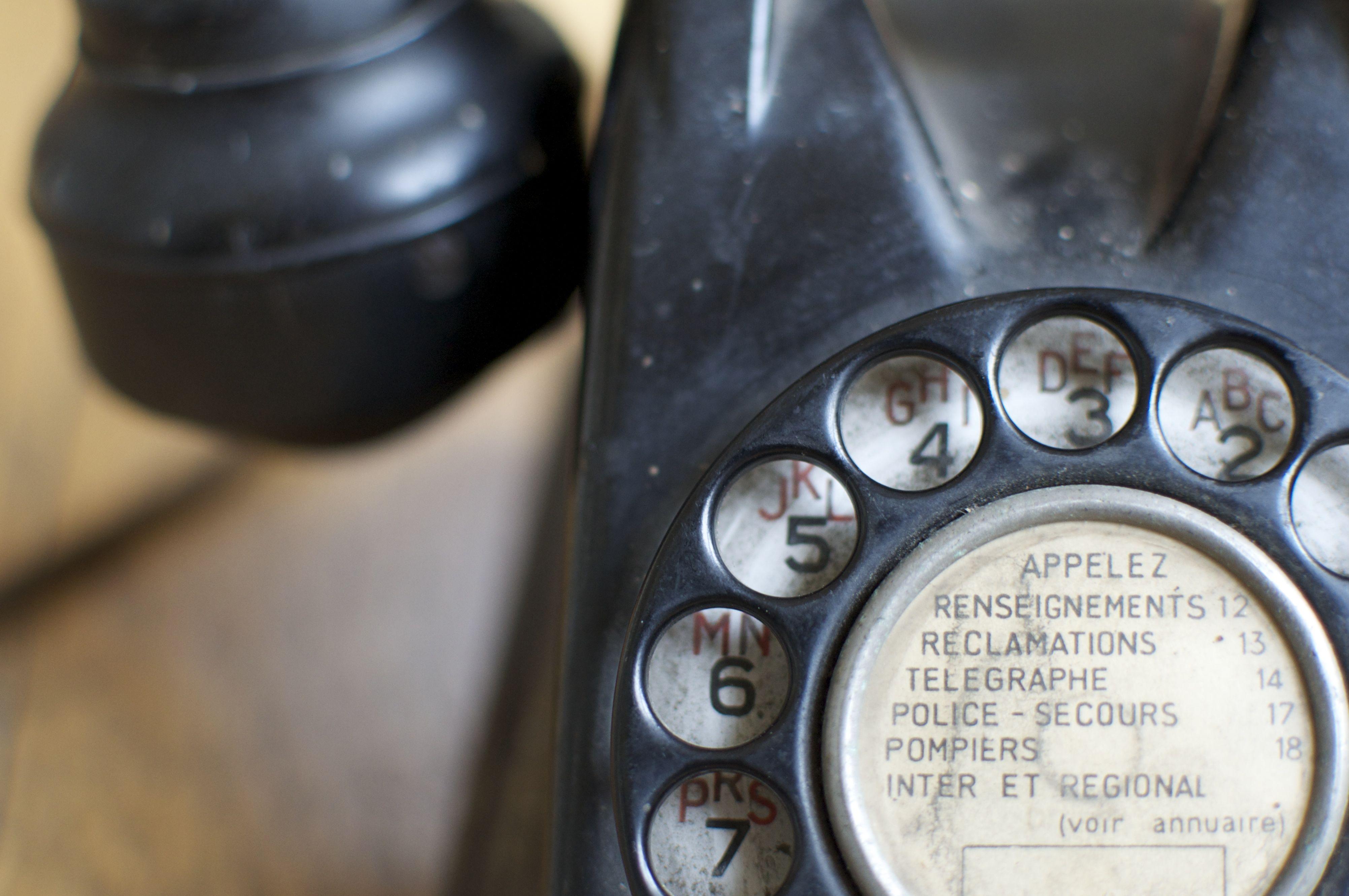 Cadran d'un téléphone vintage