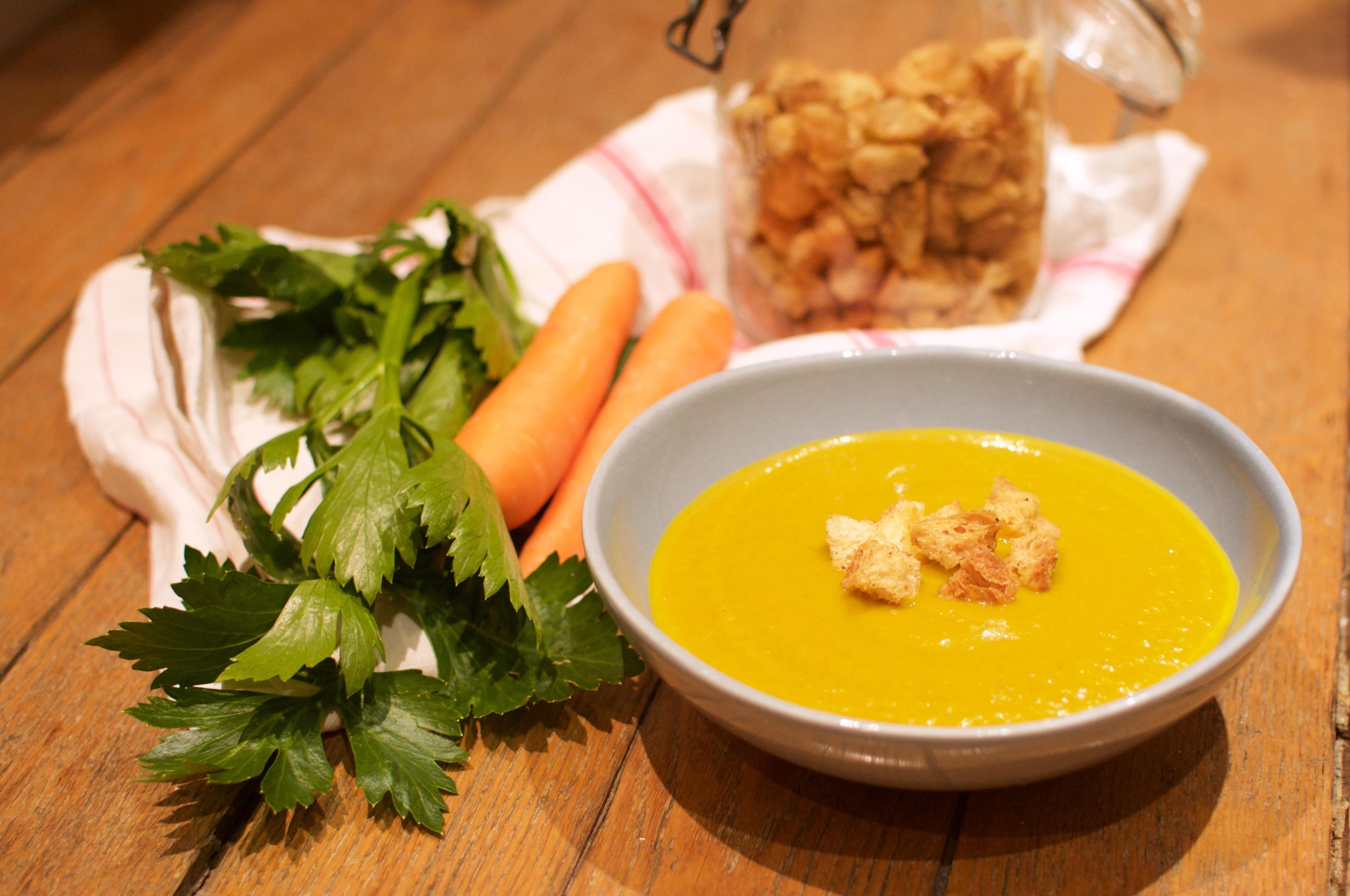 Soupe de carottes et de céleri-branche