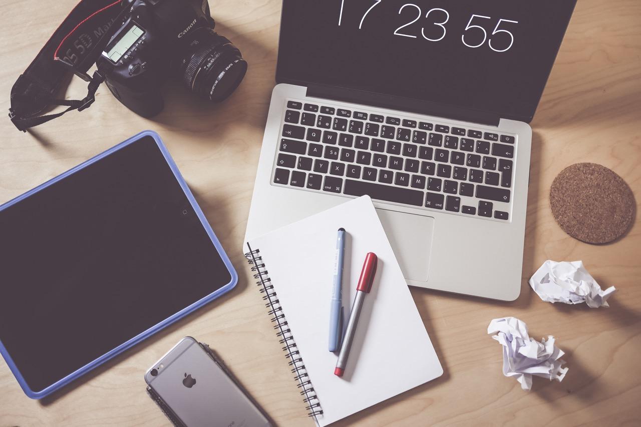 Bureau d'un blogueur