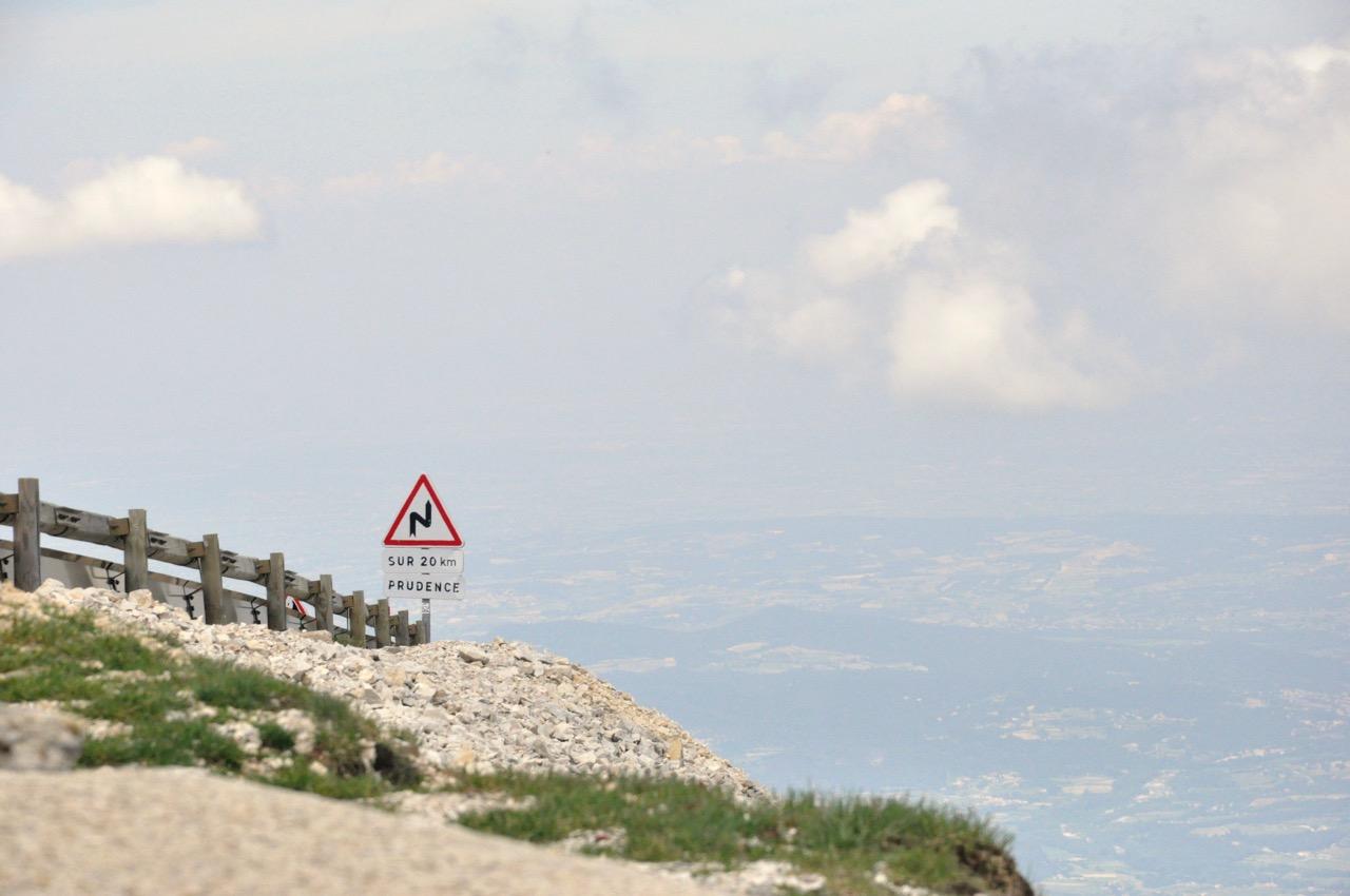 En haut du Mont Ventoux