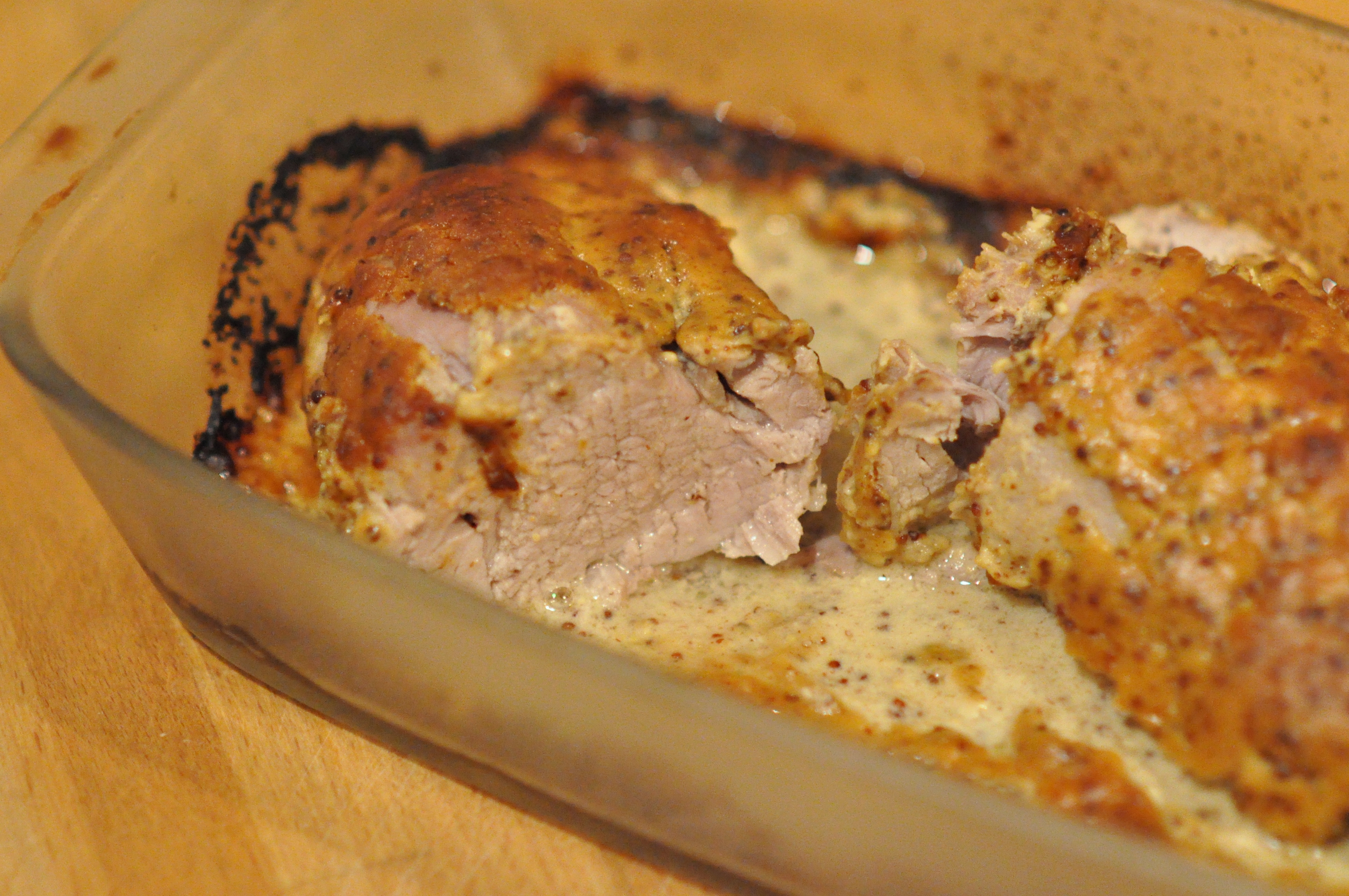 Filet mignon de porc aux 2 moutardes et au miel