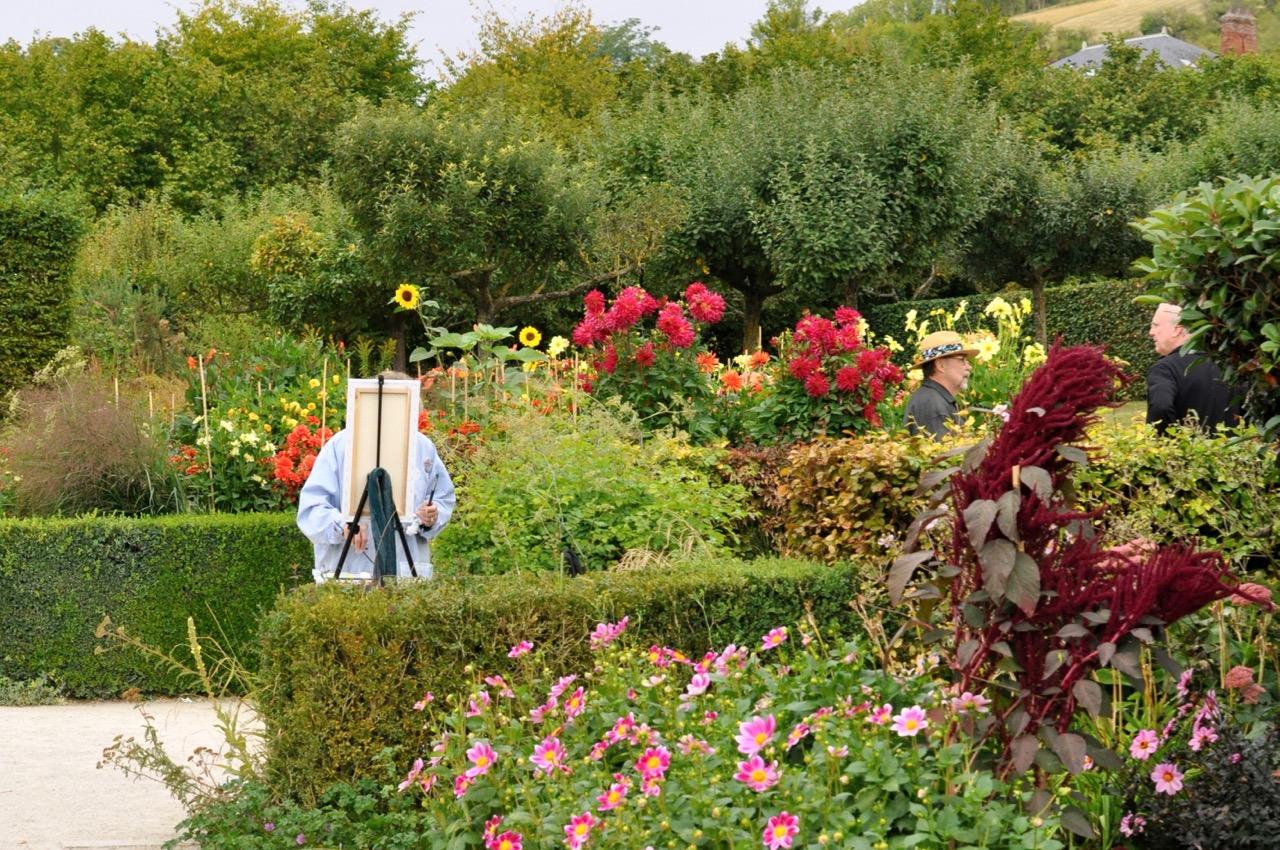 Le peintre dans les jardins de Giverny