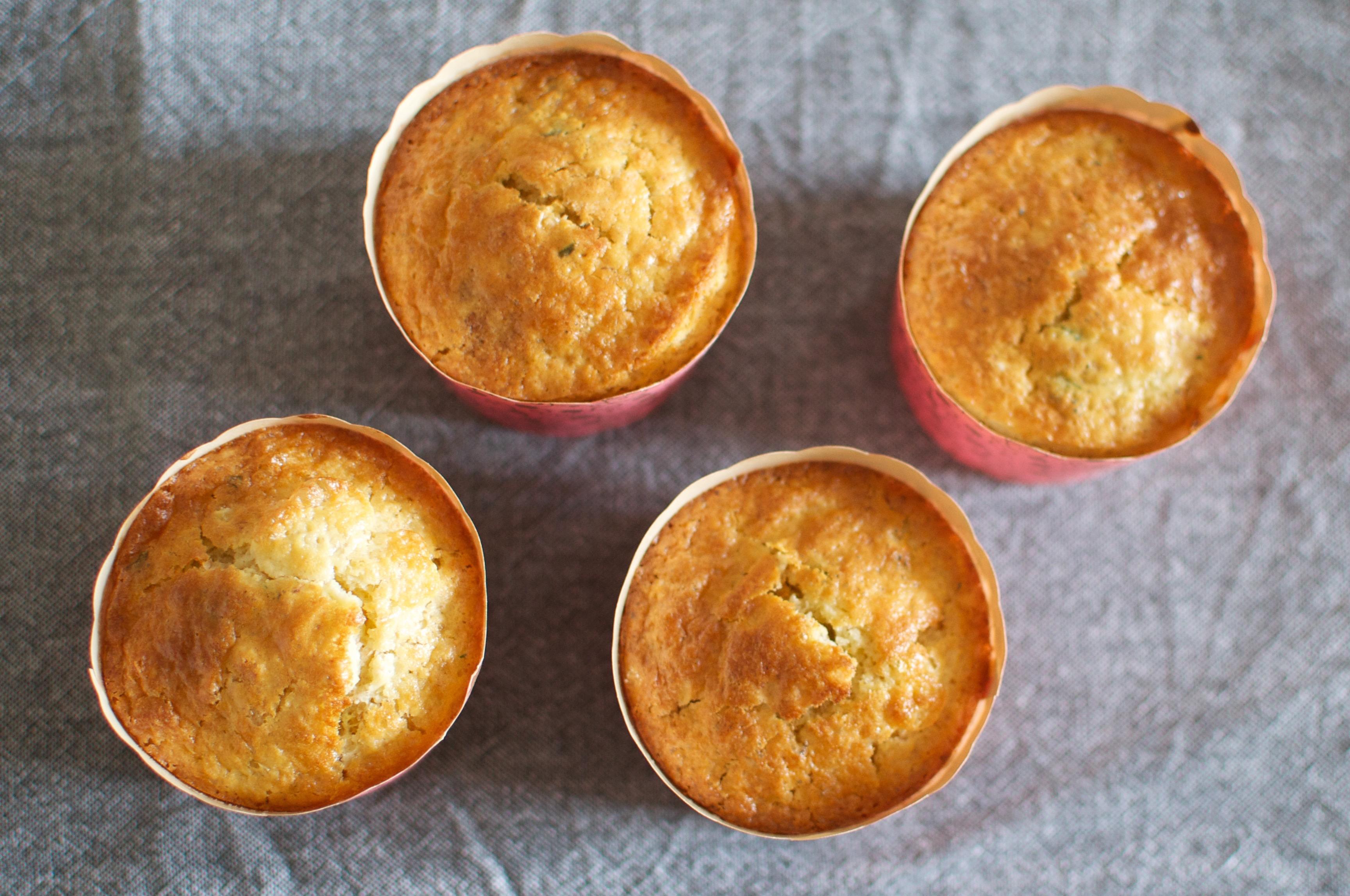 Muffins au citron et à la menthe