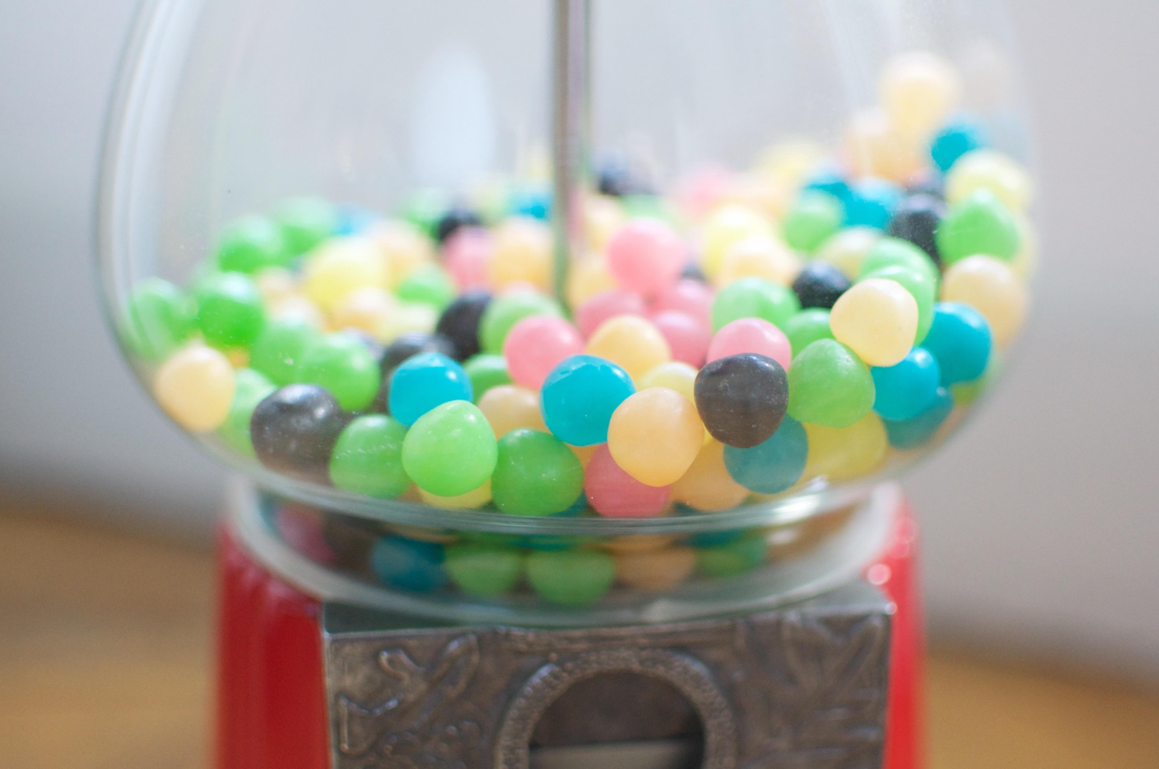Bonbons dans le distributeur