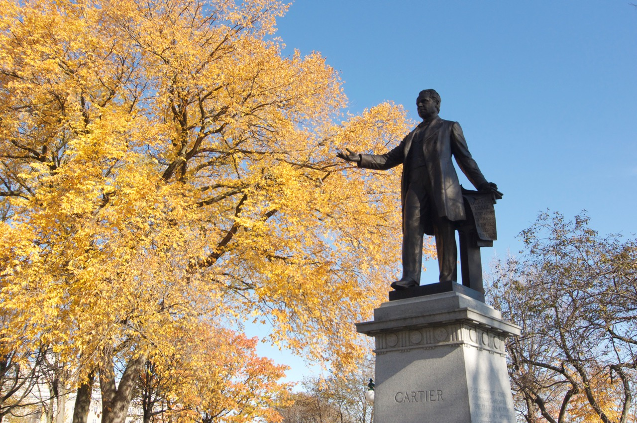 Statue de Cartier à Québec